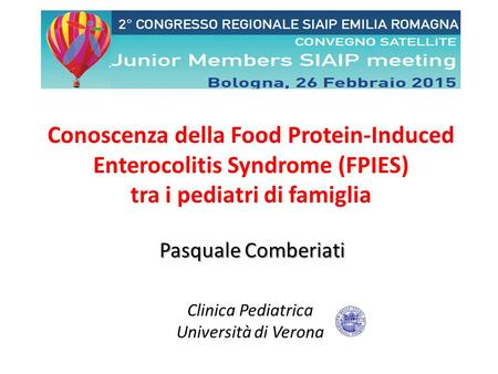 Conoscenza della Food Protein-Induced Enterocolitis Syndrome (FPIES)