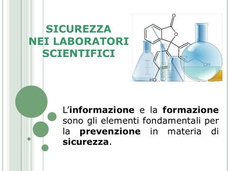 NEI LABORATORI SCIENTIFICI
