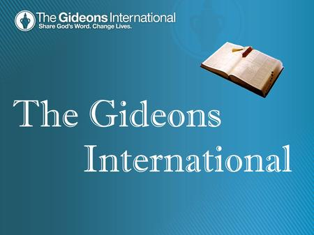 The Gideons International.
