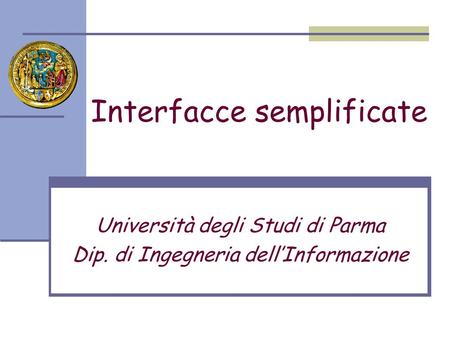 Interfacce semplificate