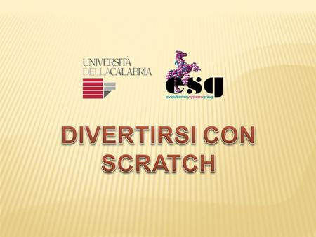 DIVERTIRSI CON SCRATCH