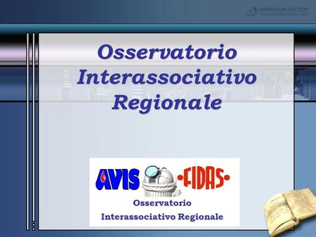 Your Subtitle Goes Here Osservatorio Interassociativo Regionale OsservatorioInterassociativoRegionale.