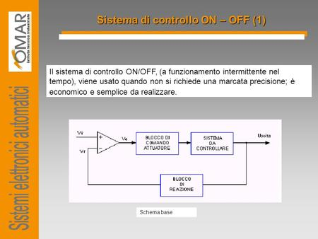 Sistema di controllo ON – OFF (1)