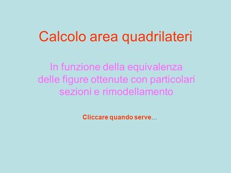 Calcolo area quadrilateri