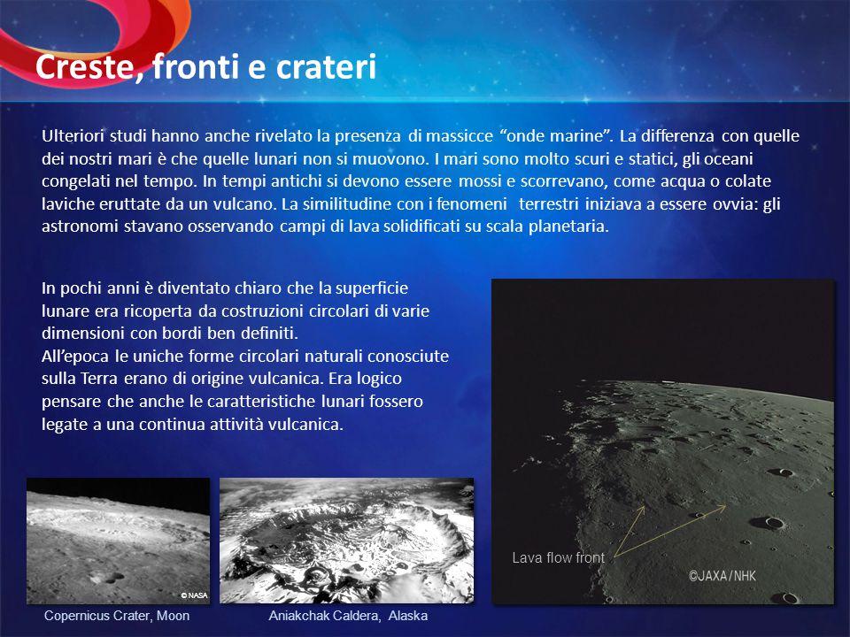 Questa assunzione durò fino alla prima metà del 20° secolo, e solo con lo studio delle osservazioni delle missioni Apollo (USA) e Luna (Russia) diventò evidente che i vulcani, almeno come li conosciamo sulla Terra, hanno giocato un ruolo minore nel modellare la superficie lunare.
