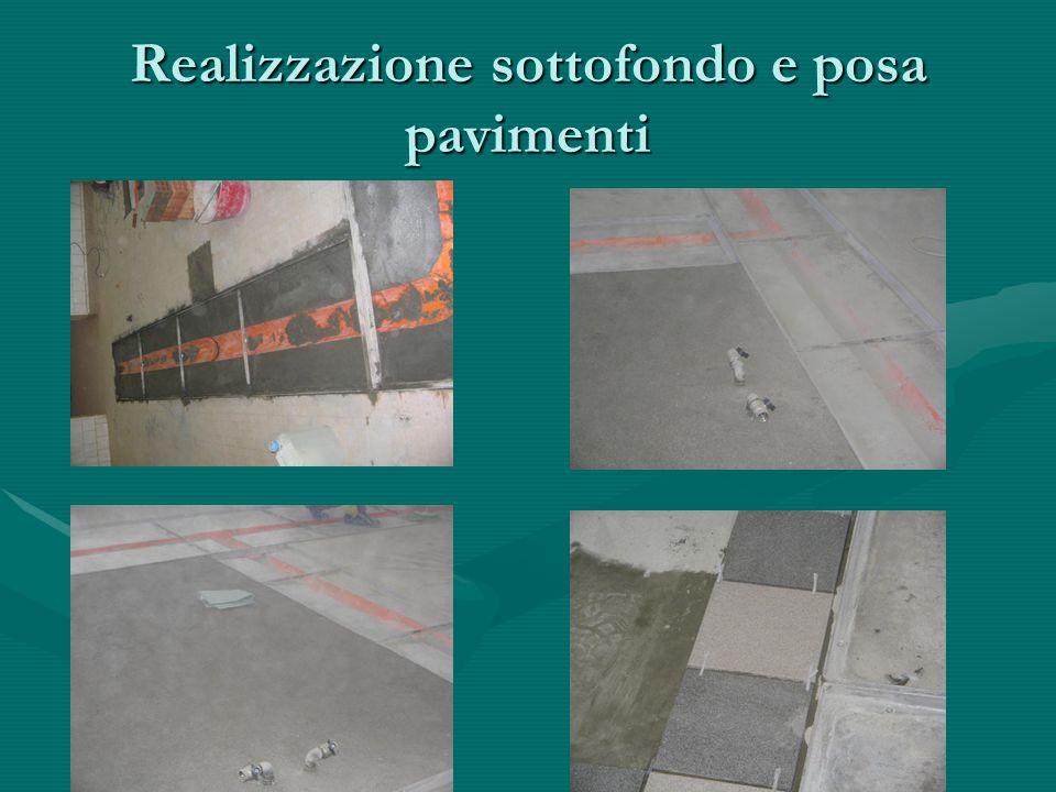 Realizzazione sottofondo e posa pavimenti