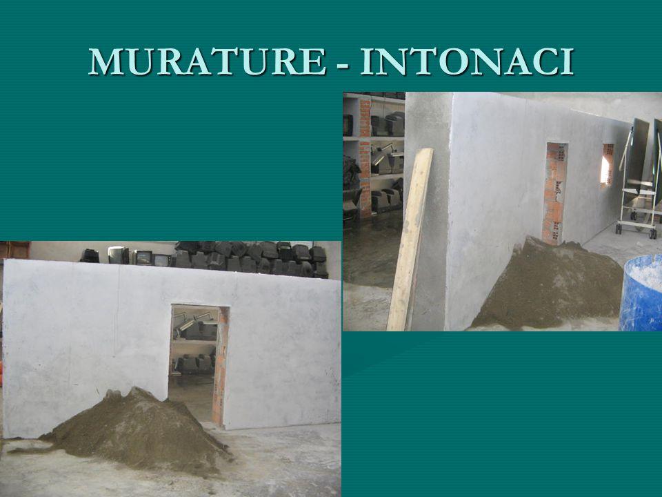 MURATURE - INTONACI