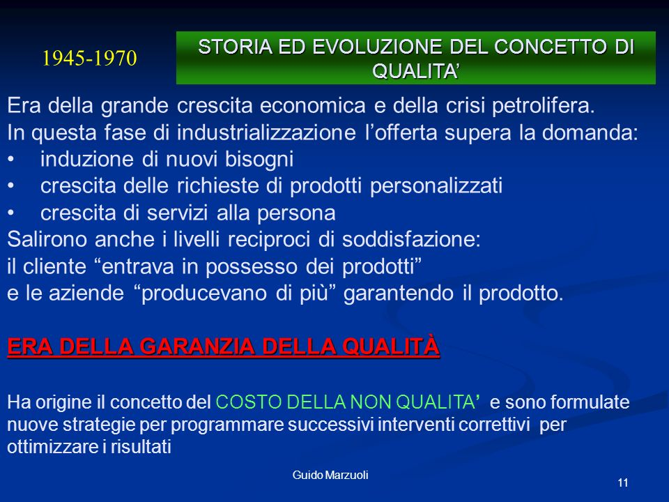 12Guido Marzuoli E costituita lInternational Organization for Standardization (ISO),.