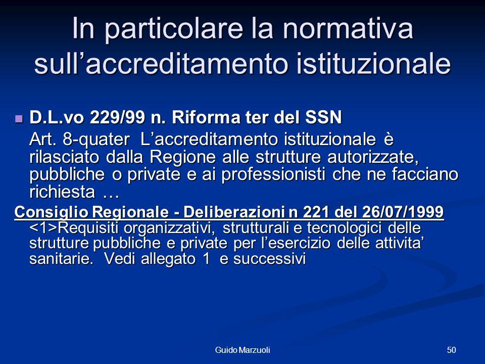 51Guido Marzuoli Processo di Accreditamento degli ospedali Art.