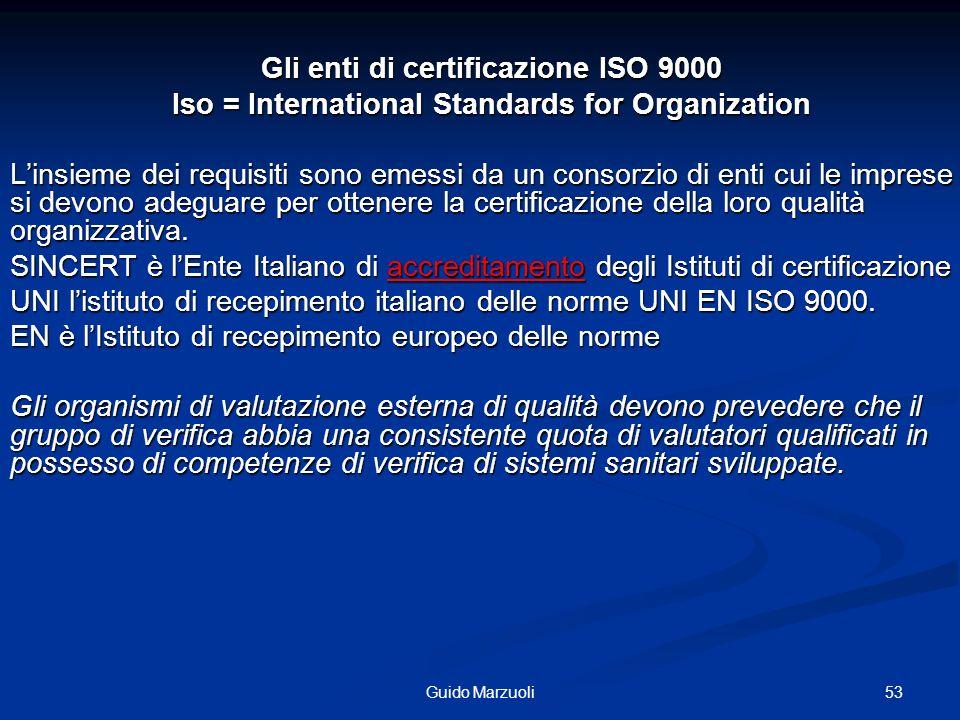 54Guido Marzuoli LEVOLUZIONE DELLE NORME ISO 1987 Le norme della famiglia ISO 9000 hanno ormai assunto unenorme importanza a livello mondiale; esse costituiscono la base per le certificazioni di parte terza delle aziende, allo scopo di facilitare i mutui riconoscimenti sulle capacità delle organizzazioni stesse di onorare gli impegni sottoscritti.