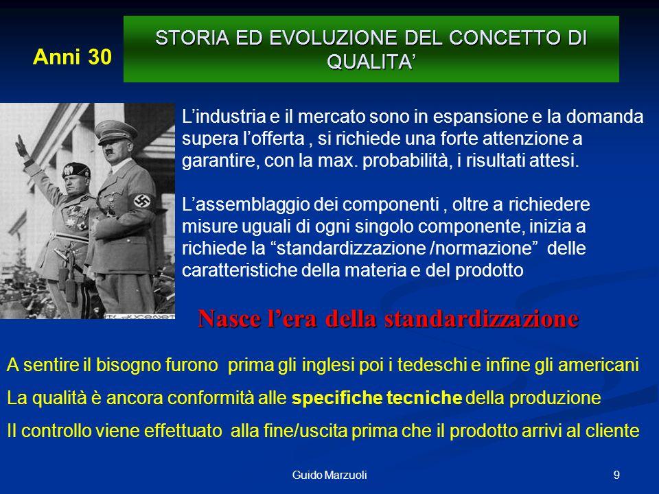 10Guido Marzuoli 1942 STORIA ED EVOLUZIONE DEL CONCETTO DI QUALITA Le tecniche del C.Q.
