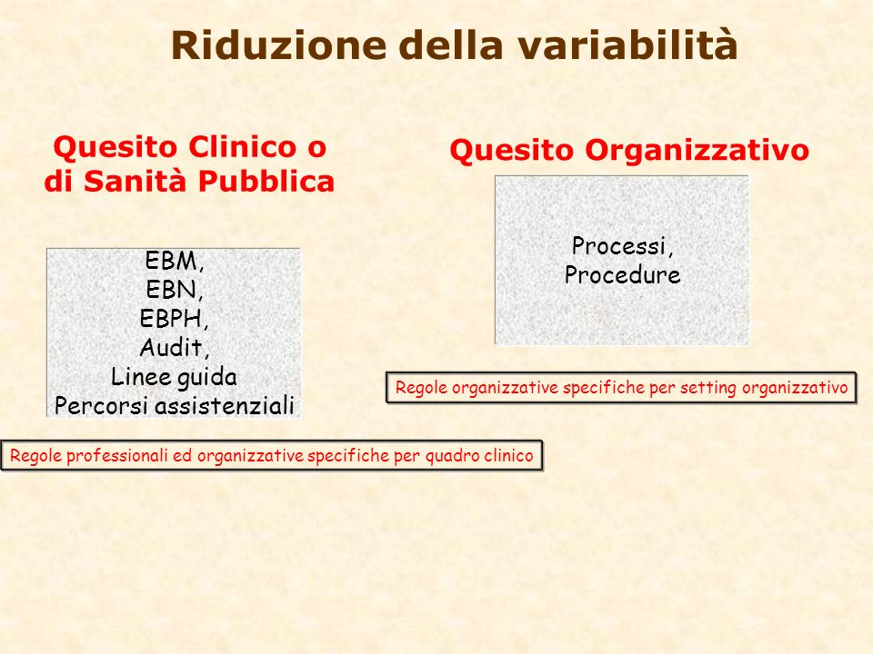 Lalbero della Clinical Governance Audit and Evaluation Research and Development Research and Development Evidence-Based Practice and Policy Evidence-Based Practice and Policy Risk Management Risk Management Technology Assessment Technology Assessment Systems for Quality Systems for Quality Co-Ordinated Clinical Governance Co-Ordinated Clinical Governance Learning Culture Learning Culture Reliable Data Reliable Data Managing Resources and Services Managing Resources and Services Accountabiliy and Performance
