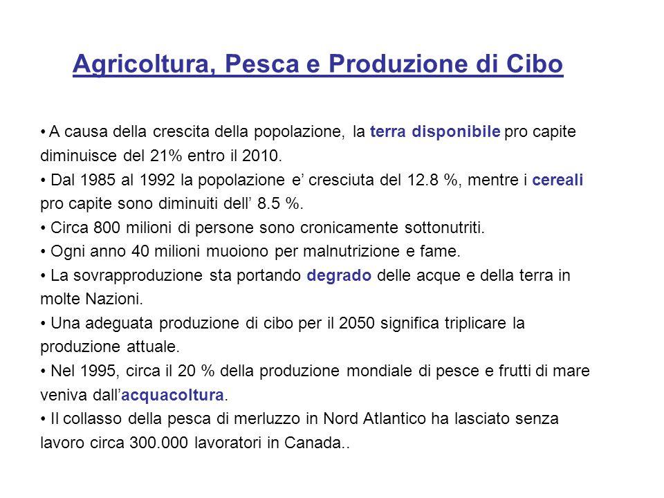 Le pratiche agricole oggi esistenti sono di due tipi: Agricoltura Industriale Agricoltura Industriale – Produce grandi quantita di singole specie.