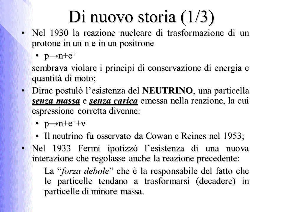 Difetto di massa (1/2) Il deuterio, isotopo dellH (con 1 protone ed 1 neutrone) ha massaIl deuterio, isotopo dellH (con 1 protone ed 1 neutrone) ha massa m d = 3,3434·10 -27 kgm d = 3,3434·10 -27 kg Considerando le masse dei singoli nucleoni:Considerando le masse dei singoli nucleoni: m p + m n = (1,6726+ 1,6749) ·10 -27 kg = 3,3475 ·10 -27 kgm p + m n = (1,6726+ 1,6749) ·10 -27 kg = 3,3475 ·10 -27 kg (m p + m n ) – m d = 0,0041·10 -27 kg Che fine ha fatto questa quantità???