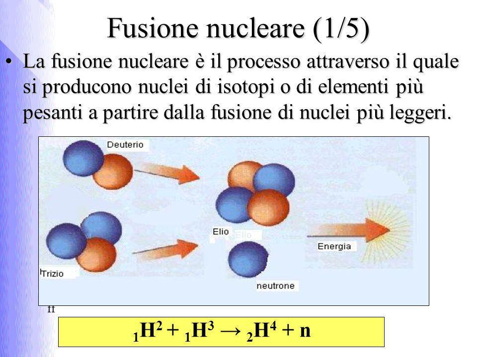 Tale reazione esoenergetica prende il nome di fusione nucleare.