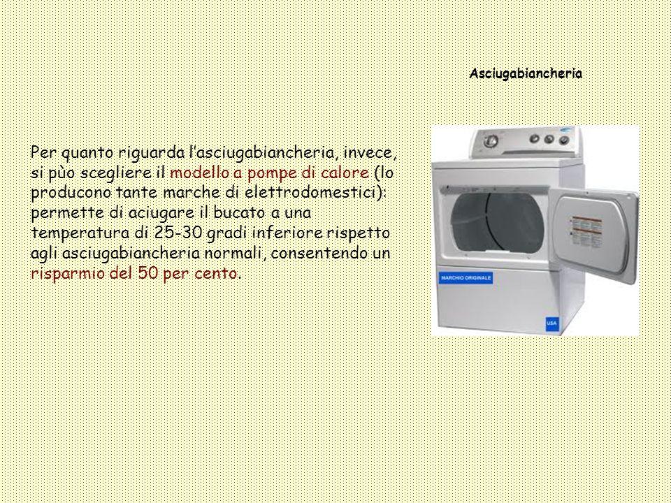 Frigorifero Il frigo è lunico elettrodomestico che rimane in funzione 24 ore su 24, quindi è necessario comprarlo di classe energetica A + o A ++.