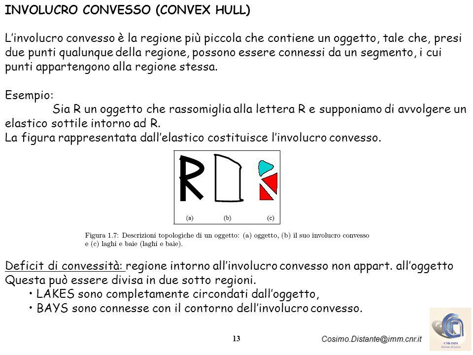 14 Cosimo.Distante@imm.cnr.it AREA, PERIMETRO E COMPATTEZZA -Larea e perimetro costituiscono altri due parametri topologici che caratterizzano le componenti connesse S 1, S 2 ---------S n presenti nellimmagine.