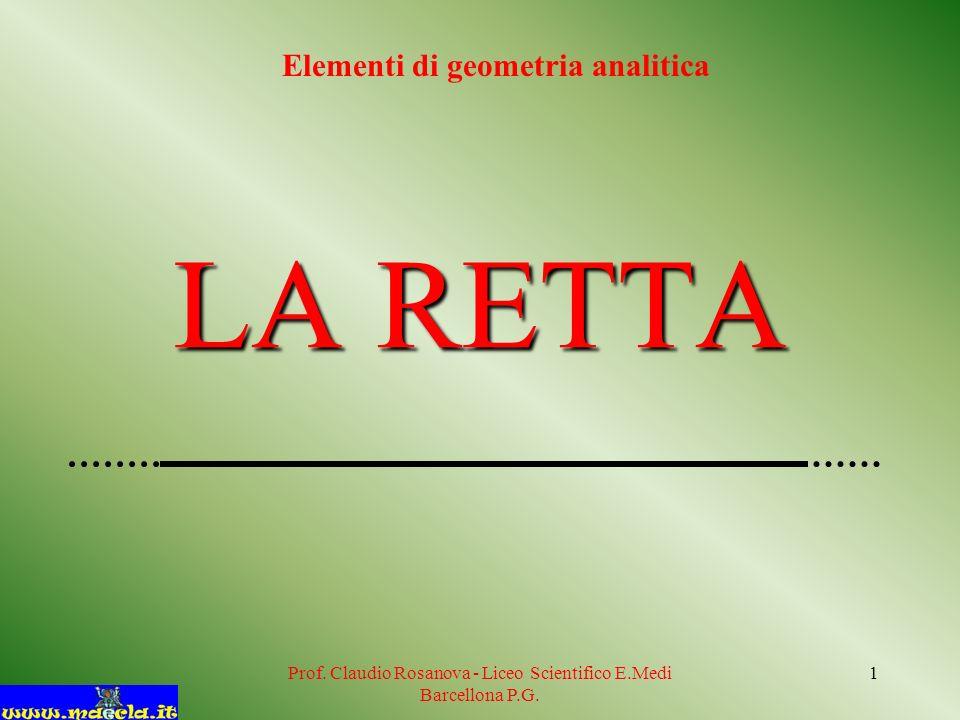 Prof.Claudio Rosanova - Liceo Scientifico E.Medi Barcellona P.G.