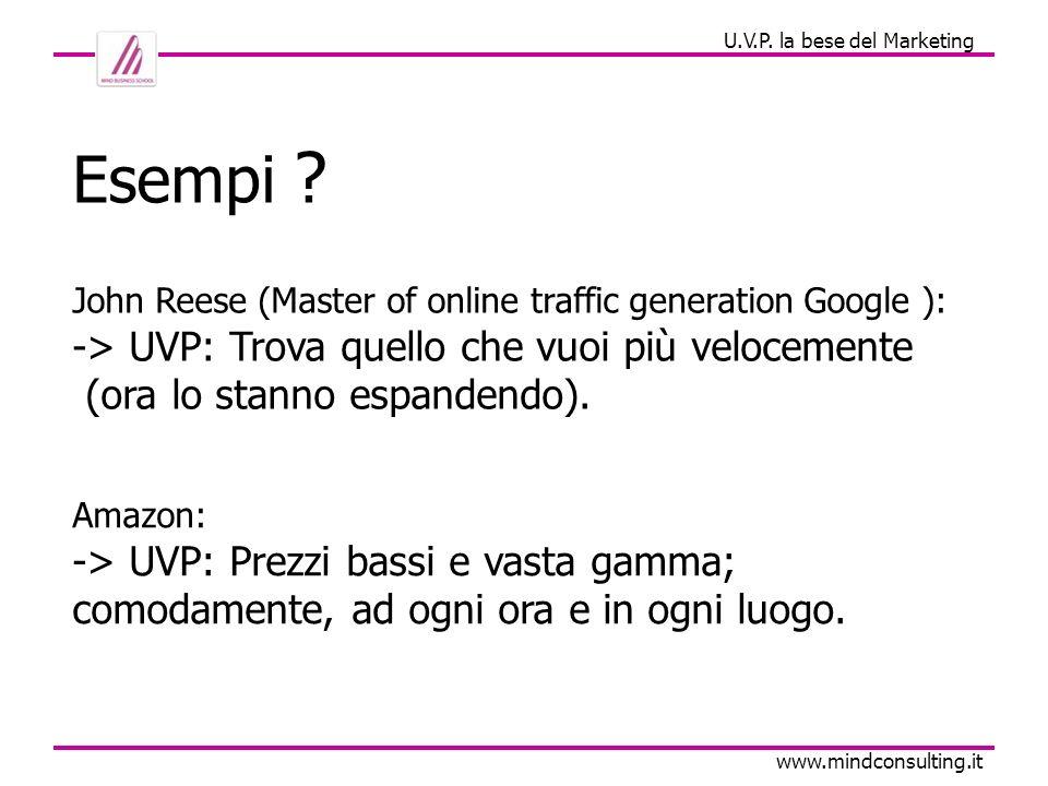 Comunicazione e Marketing www.mindconsulting.it Ci sono delle cose che uniscono questi UVP.