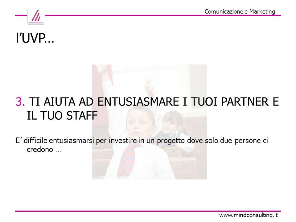 Comunicazione e Marketing www.mindconsulting.it lUVP… 4.