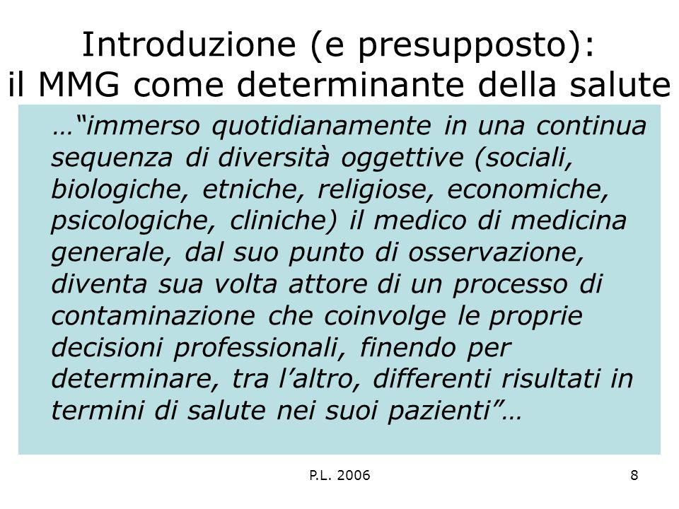 P.L.20069 I determinanti della salute: definizione del problema LArt.