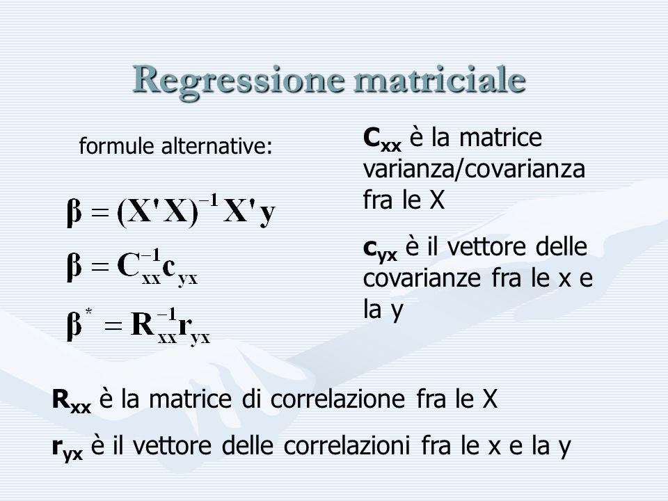 Esempio di b=C -1 c varianza e covarianza calcolate con N-1