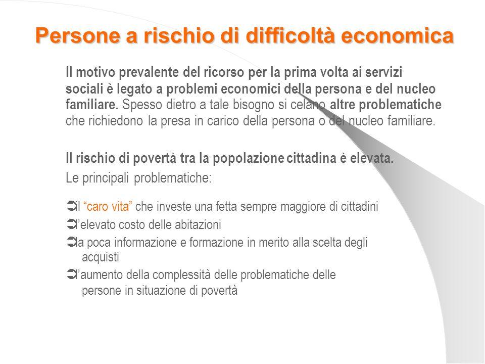 Le prestazioni di assistenza economica si distinguono in due categorie: 1.
