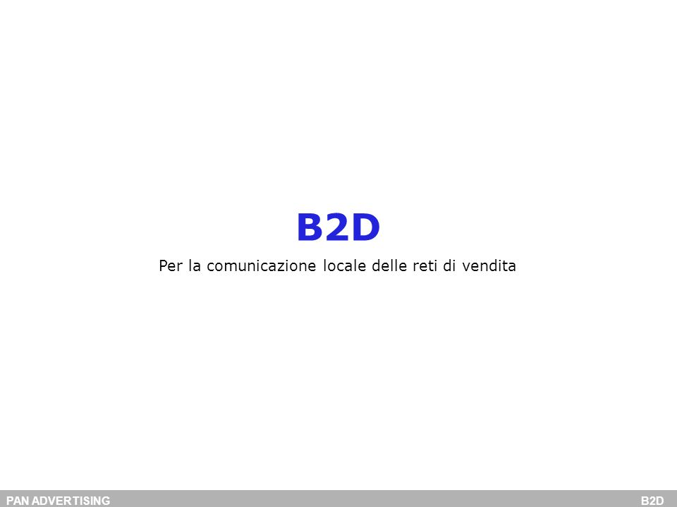 PAN ADVERTISING B2D