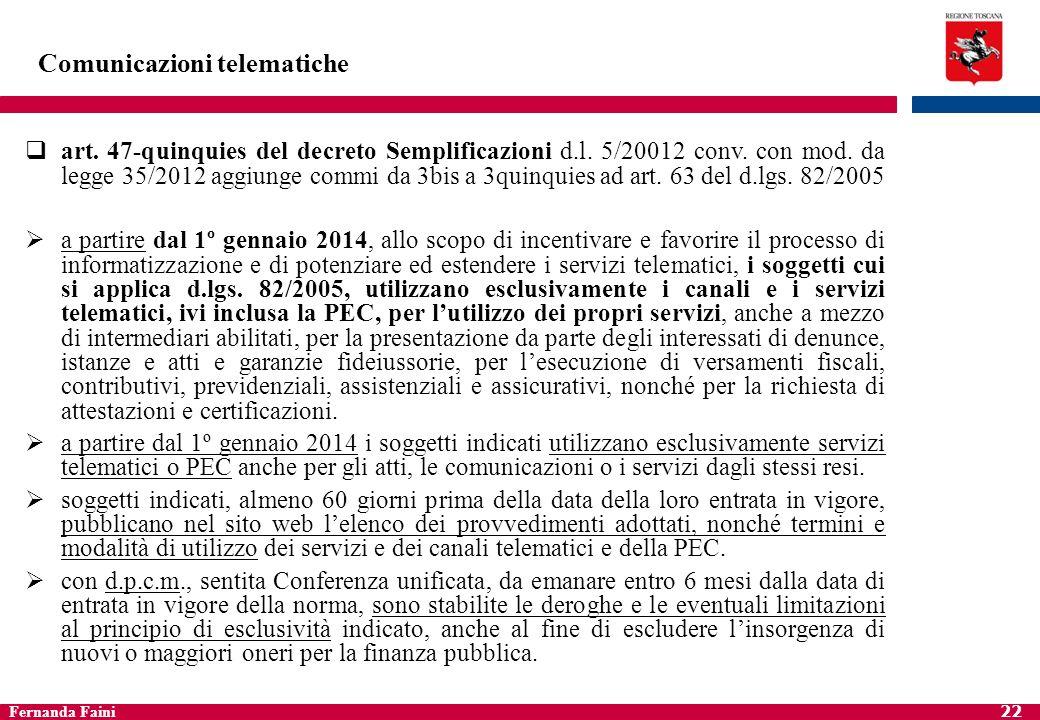 Fernanda Faini 23 Istanze e dichiarazioni alla PA Presentazione istanze e dichiarazioni alla PA (artt.
