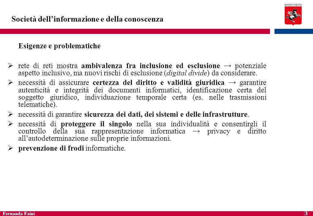 Fernanda Faini 4 Contesto normativo di riferimento Numerosa normativa emanata nel tempo in materia di P.A.