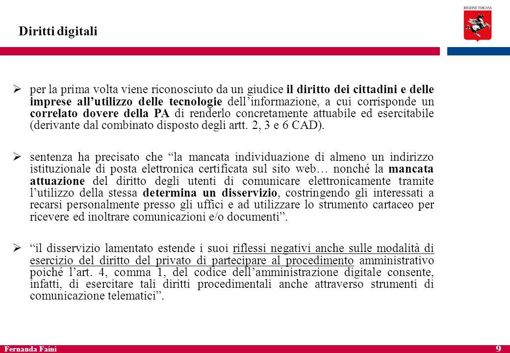 Fernanda Faini 10 Diritti digitali Domicilio digitale del cittadino (art.