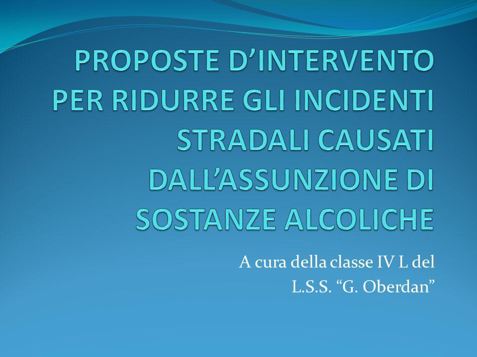 Ogni anno in Italia si verificano circa 220.000 incidenti di diversa entità