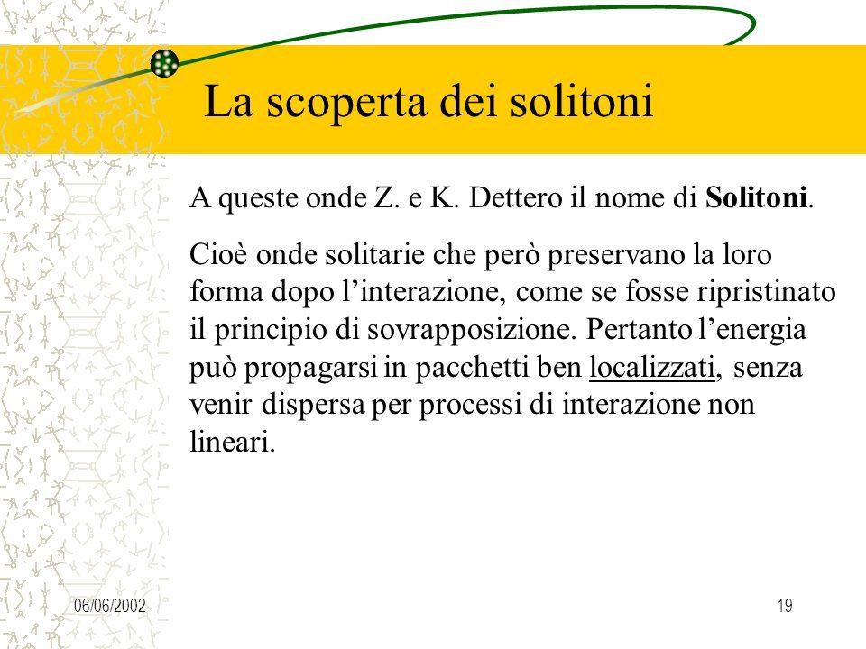06/06/200219 La scoperta dei solitoni A queste onde Z.