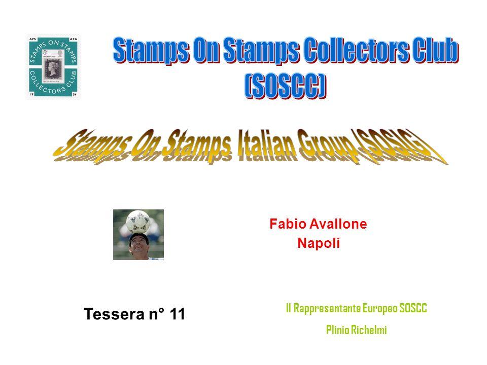 Pietro Mariani (tematico) Macherio (MI) Tessera n° 12 Il Rappresentante Europeo SOSCC Plinio Richelmi
