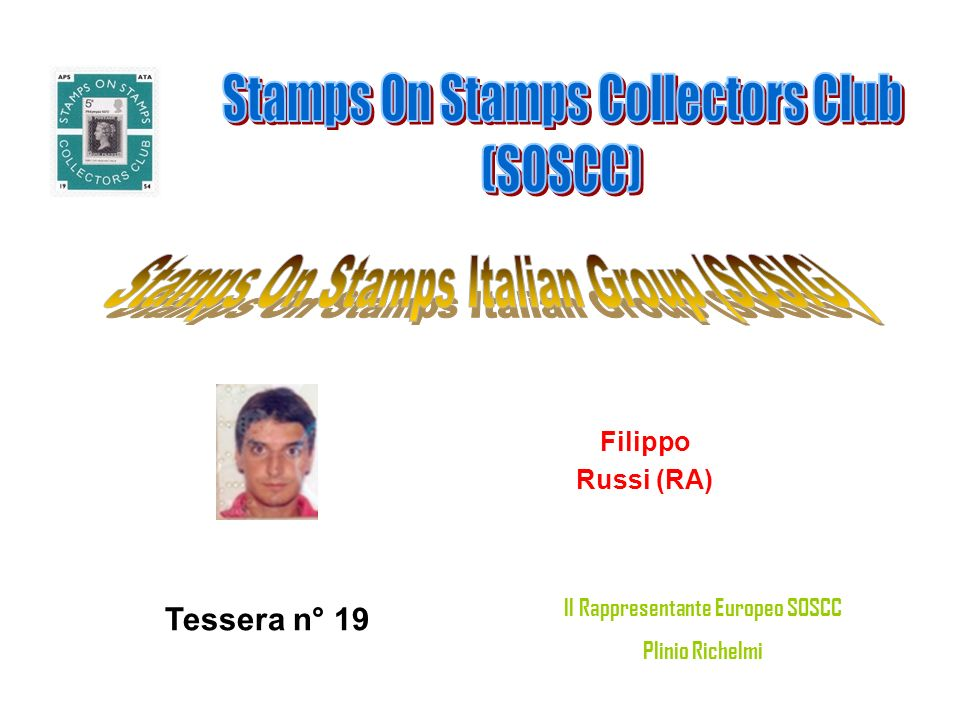 Cirneco Giuseppe Orbassano (TO) Tessera n° 20 Il Rappresentante Europeo SOSCC Plinio Richelmi