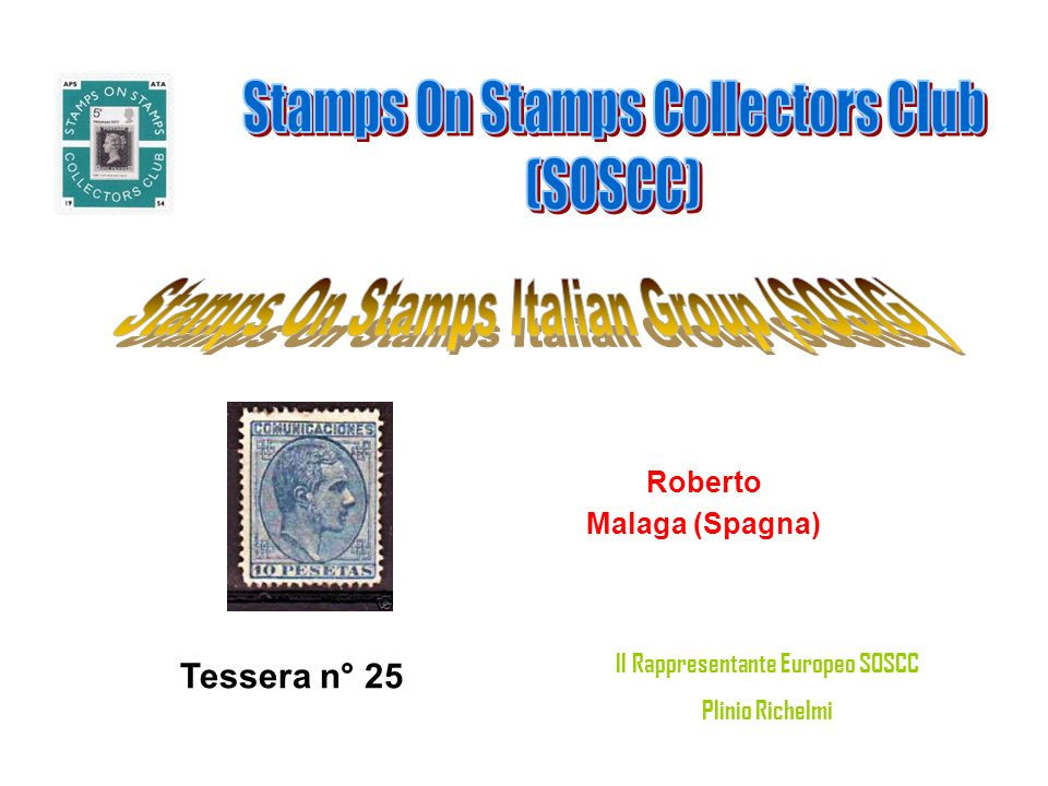 Gianni Novi Ligure Tessera n° 26 Il Rappresentante Europeo SOSCC Plinio Richelmi
