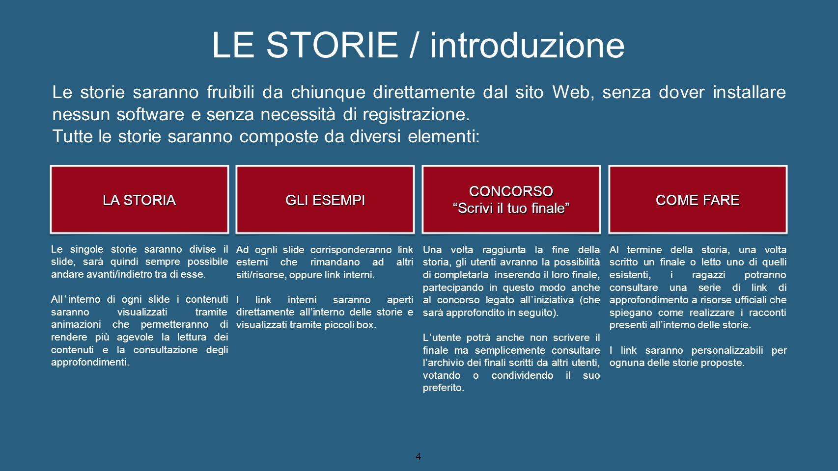 5 LE STORIE / indice