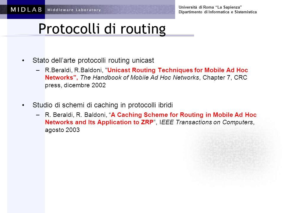 Università di Roma La Sapienza Dipartimento di Informatica e Sistemistica Algoritmi e modelli sistemi dinamici Pub/Sub –A.