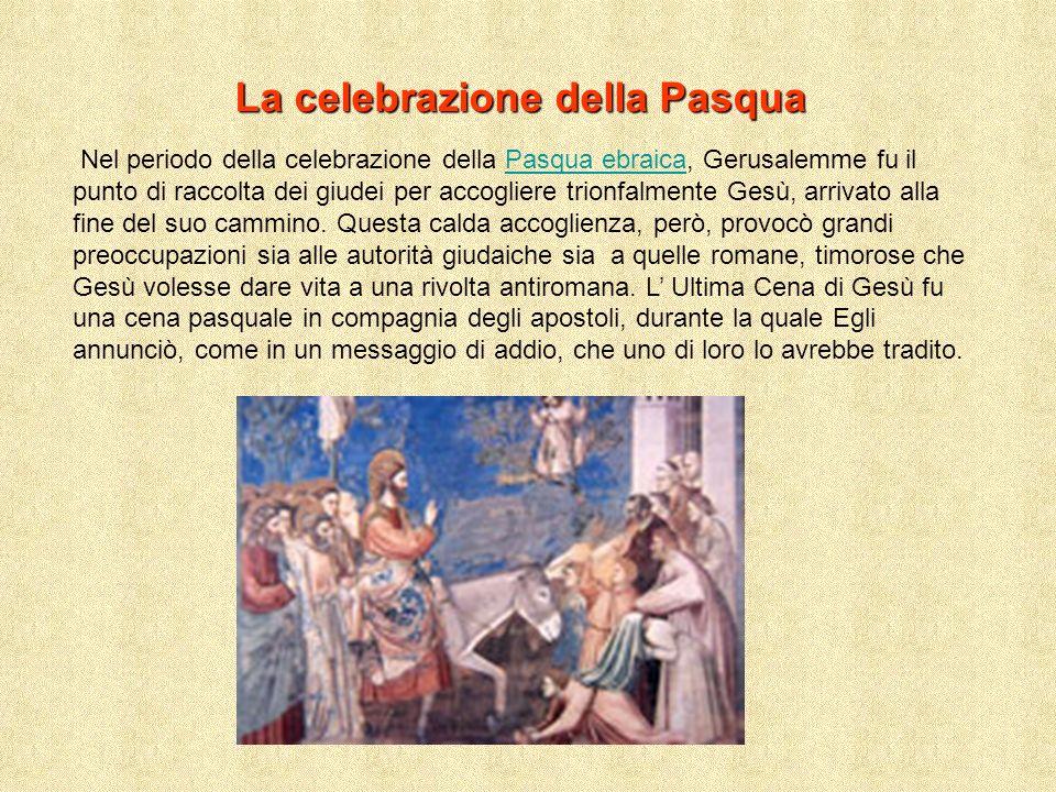L istituzione dell eucaristia L evento più importante dell Ultima Cena fu il dono del corpo e del sangue di Gesù.