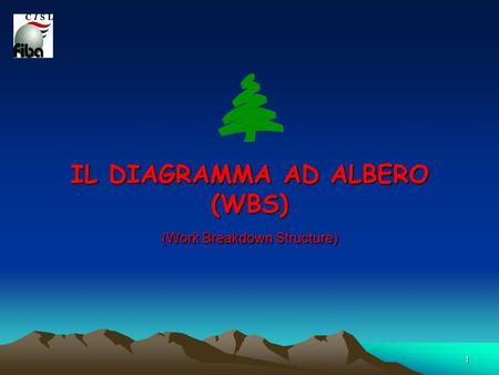 IL DIAGRAMMA AD ALBERO (WBS) (Work Breakdown Structure)