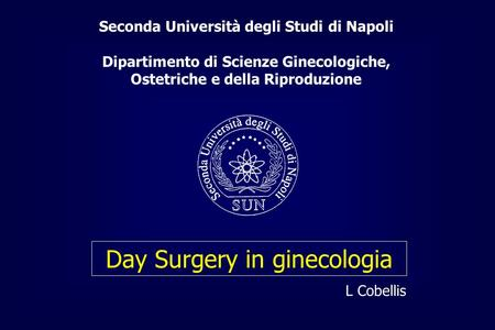 Day Surgery in ginecologia
