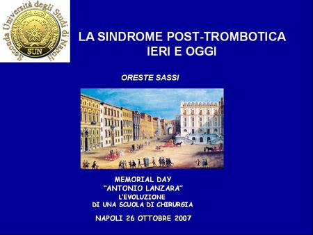 Sindrome post-trombotica