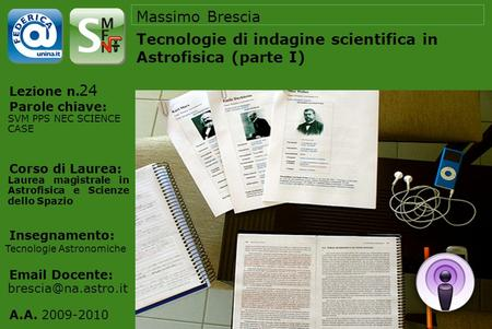 Tecnologie di indagine scientifica in Astrofisica (parte I)