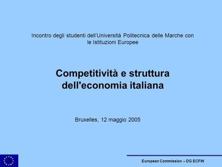 Interdipendenze economiche e globalizzazione ppt scaricare for Struttura politica italiana