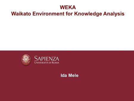Waikato Environment for Knowledge Analysis