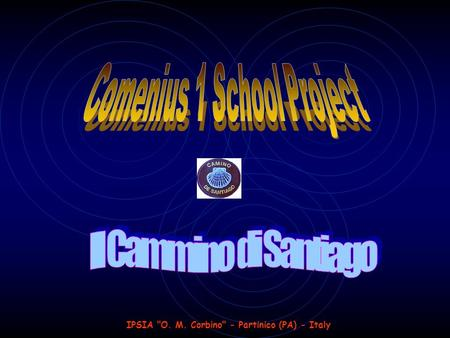 IPSIA O. M. Corbino - Partinico (PA) - Italy. Comenius 1 School Project 1 st year IL CAMMINO DI SANTIAGO Comenius 1 School Project 1 st year IL CAMMINO.