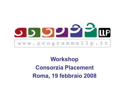 Workshop Consorzia Placement Roma, 19 febbraio 2008.