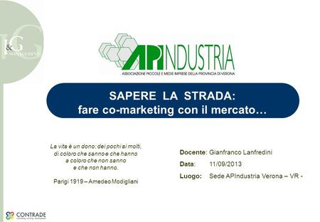 fare co-marketing con il mercato…