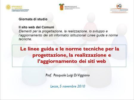 Il codice dellamministrazione digitale seminario nazionale for Siti web di progettazione architettonica gratuiti