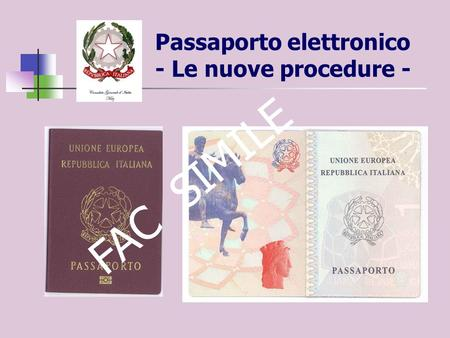 Passaporto elettronico - Le nuove procedure -